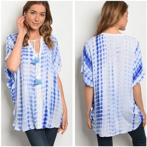 Tops - 5 for $100 BLUE TIE DYE TOP